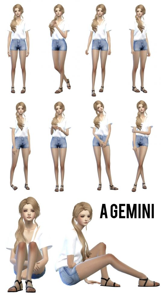 Gemini poses for CAS at Sens Felipa • Sims 4 Updates