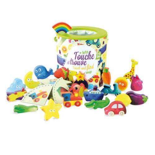 Jeu de reconnaissance Touche et trouve Vilac pour enfant de 2 ans à 5 ans - Oxybul éveil et jeux