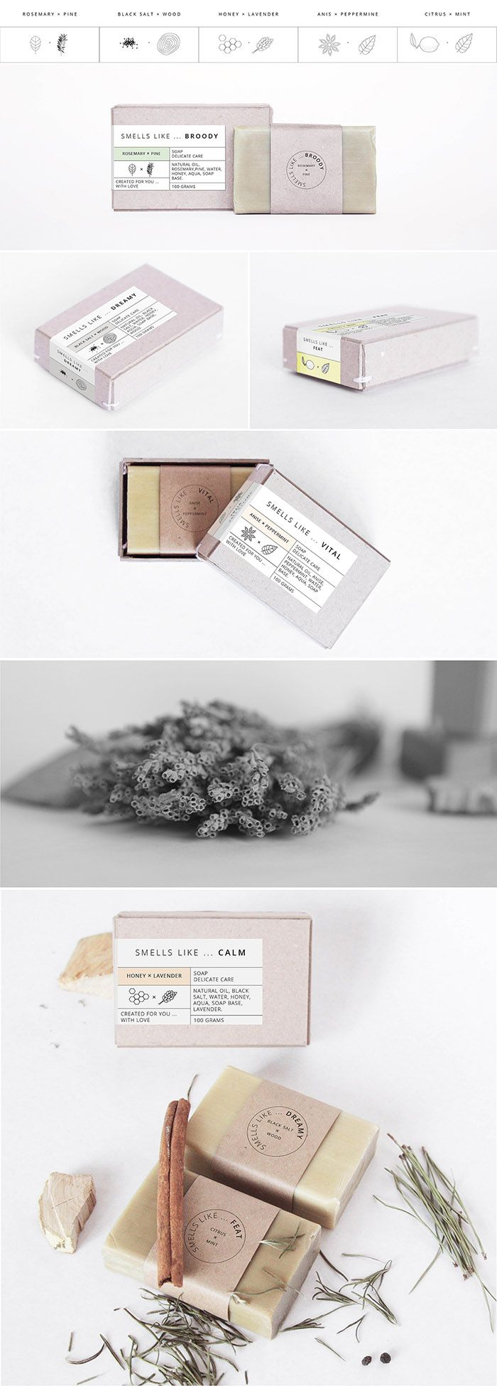 Smells like … Something tasty ! Soap Packaging. Designed by: Anna Meleshina, Russia.
