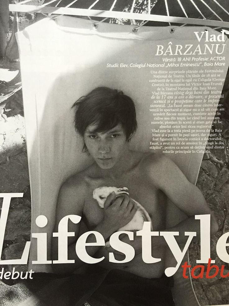 Vlad Barzanu, actor, featured in Tabu magazine, December 2008-January 2009 issue.