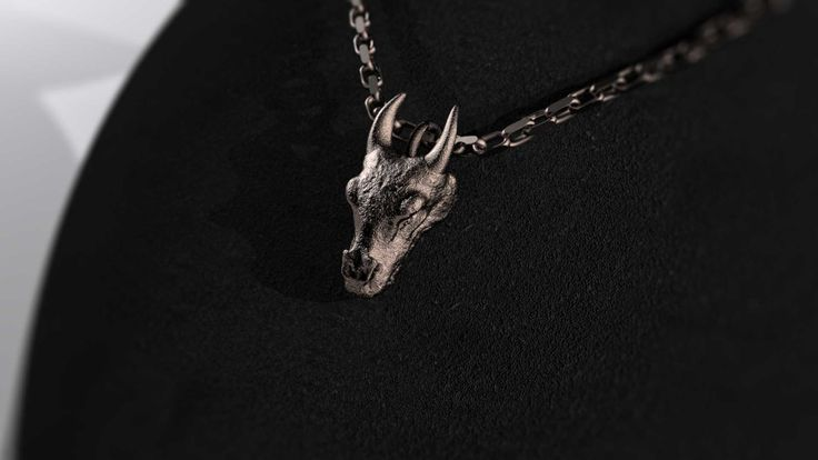 Dragon Head Stainless Steel Pendant #shapeways by Mythos Jewelry