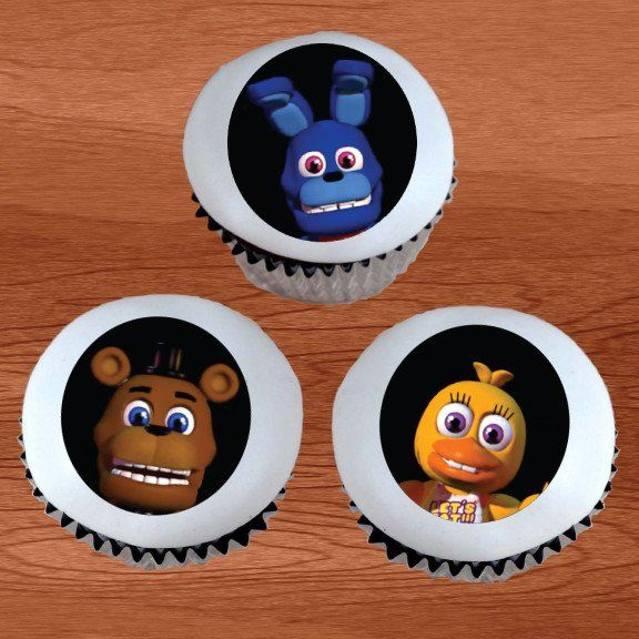 FNAF Five Nights at Freddy's World Edible Cupcake / Cookie Toppers