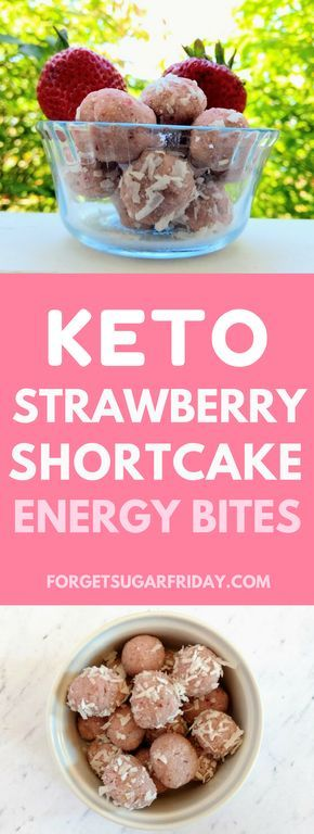 These Keto Strawberry Shortcake Energy Bites are an awesome low carb, sugar-free dessert or snack. Also gluten-free, dairy-free, vegetarian, and vegan! (Keto diet fat bomb)