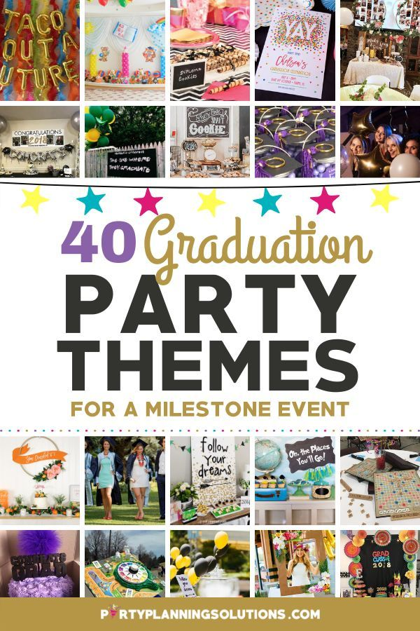 Celebrate Good Times With Great Graduation Party Themes Graduation Party Themes Kindergarten Graduation Party Graduation Party