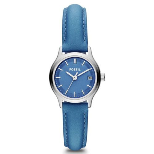 Fossil-ES3273-Womens-Blue-Dial-Blue-Leather-Strap-Quartz-Watch