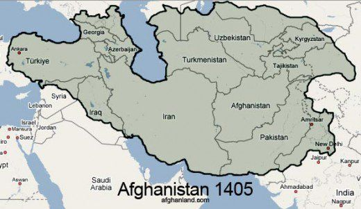 The breadth of the Timurid Empire.