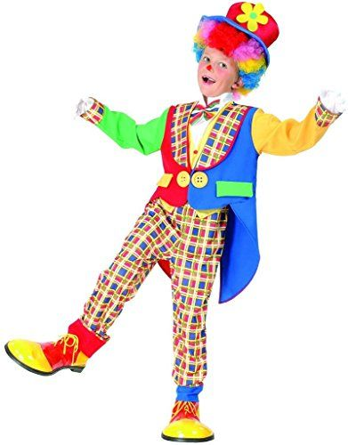 YOU LOOK UGLY TODAY Colourful Clown Halloween Dress-up Costume Quality Fabric Washable & Durable-Small