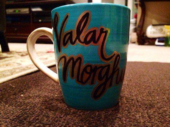 Khaleesi Mug - Valar Morghulis All Men Must Die Game of Thrones Coffee Mug Daenerys Targaryen Dragon Queen Moon of my life Sun and stars GOT Mug King of the North Mother of Dragons