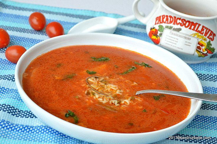 Supa de rosii reteta ardeleneasca a bunicii mele. La Arad facem supa de rosii cu orez, paste alfabet sau cu galuste mici de faina. Este o reteta simpla de