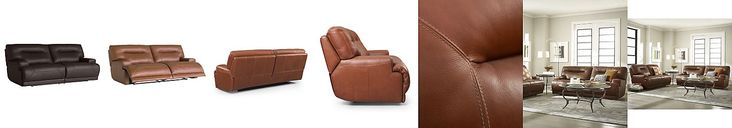 "Ricardo Leather Reclining Sofa, Power Recliner 88""W x 44""D x 38""H"