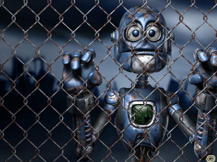 Robotar - skrivbordsunderlägg: http://wallpapic.se/konst-och-kreativa/robotar/wallpaper-26360