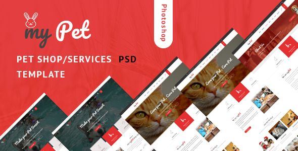 Mypet Pet Shop Veterinary Psd Template Psd Templates Psd
