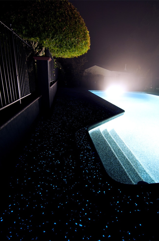 Freaking Snazzy!! Glow in the Dark patio / driveway / poolside / floors / counter tops    AGT Design Inspiration - Ambient Glow Technology: The Worlds Most Powerful Glow Stone And Sand Aggregates