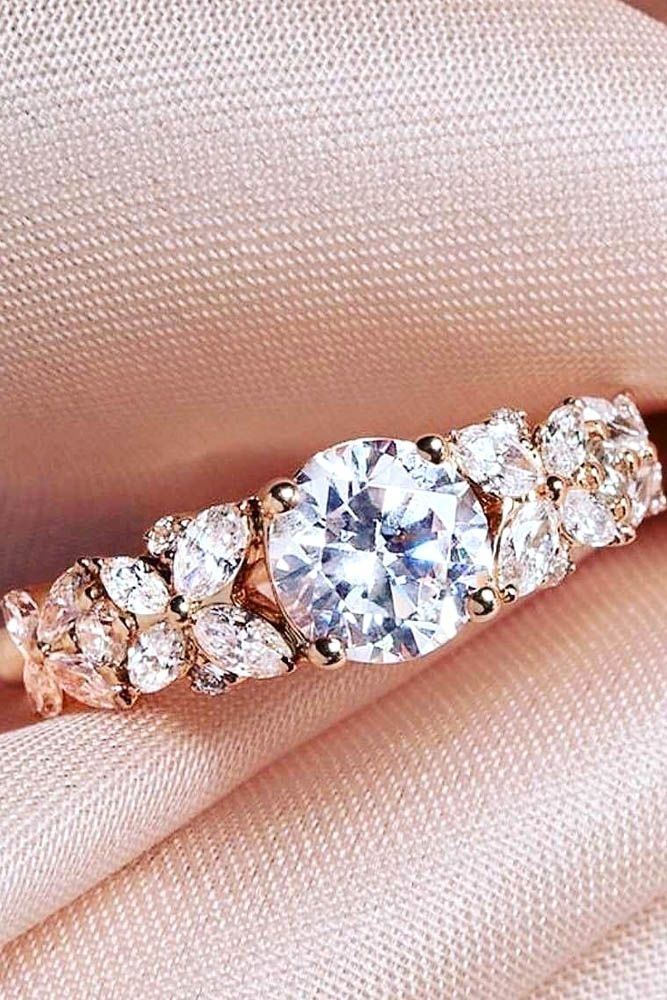 rose gold pink gold engagement rings 3