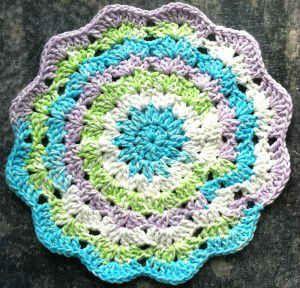 #60 Colorful Journey Crochet Dishcloth