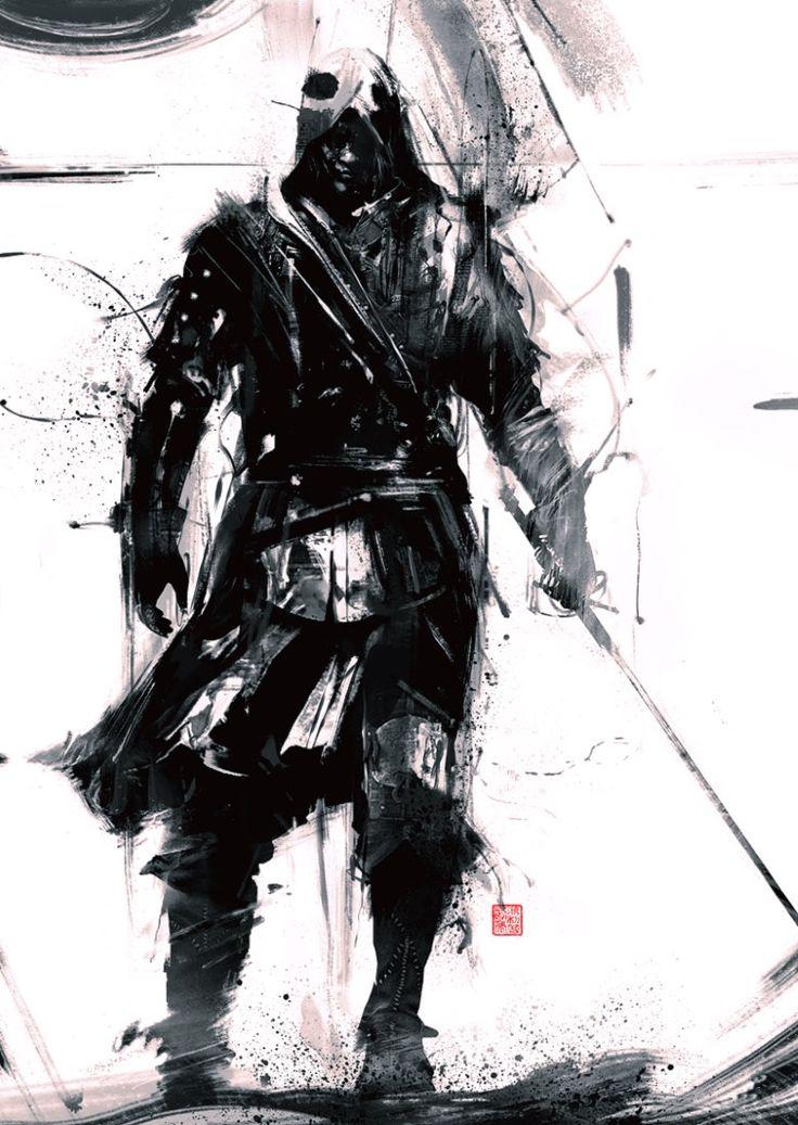 Illustration d'Assassin Creed Black Flag par l'artiste Simon Goinard