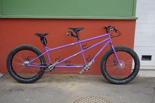 Fat Bike Tandem by Salamandre cycles #fatbike #bicycle
