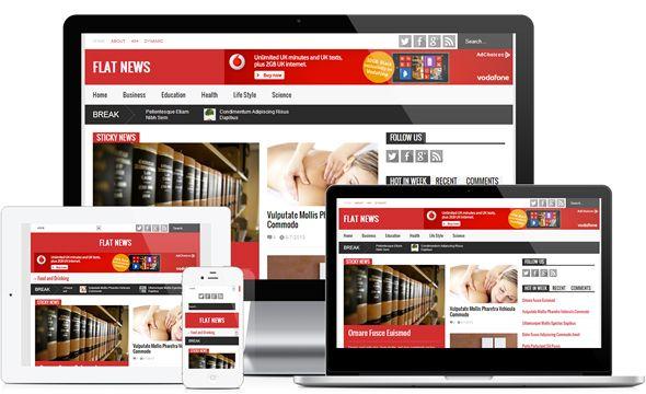 Template Flat News v2.6.9 chuẩn SEO, cực nhẹ cho Blogspot