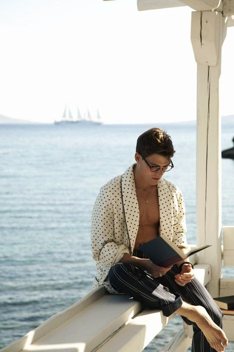Oliver Cheshire Relaxes in Mykonos for Shortlist