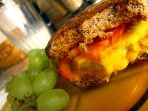 Tofu Breakfast Sandwich (much better than it sounds!)