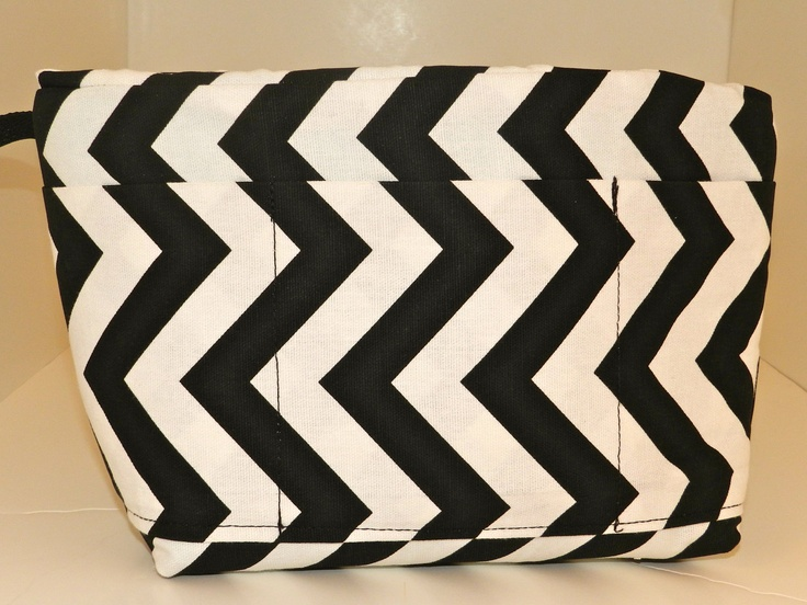 Camera Bag insert DSLR for your purse, travel bag, backpack -Black and White Chevron,  In STOCK, padded carrier, by Darby Mack Designs. $45.00, via Etsy.