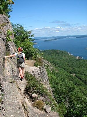 Most frightening hike I have ever been on, also the most breathtaking!  Acadia National Park, Precipice Trail