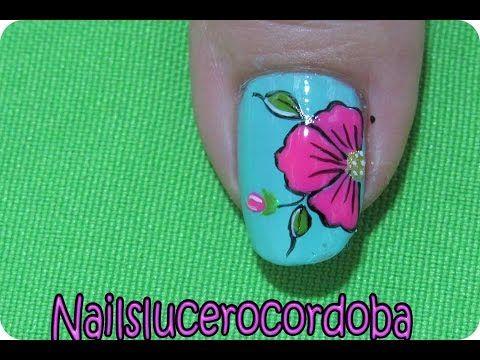 Como hacer flores en las uñas - Como Pintar Flores - Uñas Con Flores |Nailslucerocordoba - YouTube