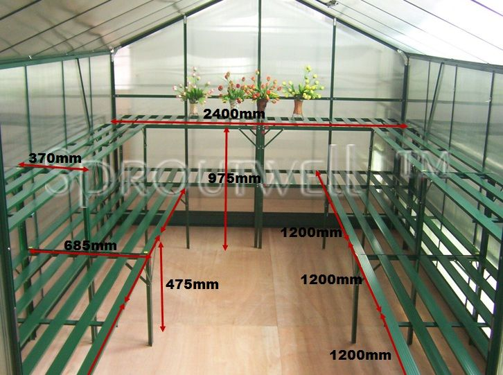 Shelving & Staging Kits :: Staging - Garden Pro :: 5100 Staging Kit - Sproutwell Australia Polycarbonate Greenhouses