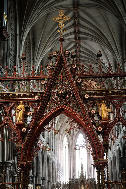 Lichfield Cathedral. Cathedral Church of the Blessed Virgin Mary and St Chad. Diocese of Lichfield. Built 669-803, 1048