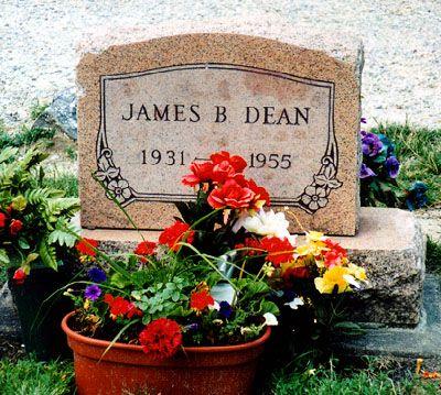 James Dean: Burial:  Park Cemetery  Fairmount  Grant County  Indiana, USA  GPS (lat/lon): 40.43417, -85.64556