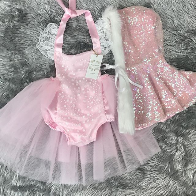 Beautiful winter princess tutu outfit with sequin cape handmade by Belle Threads You can order our capes in pink, silver, blue, lavender and red ✨✨✨