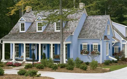 Beautiful exterior color scheme light blue house color - White exterior paint color schemes ...