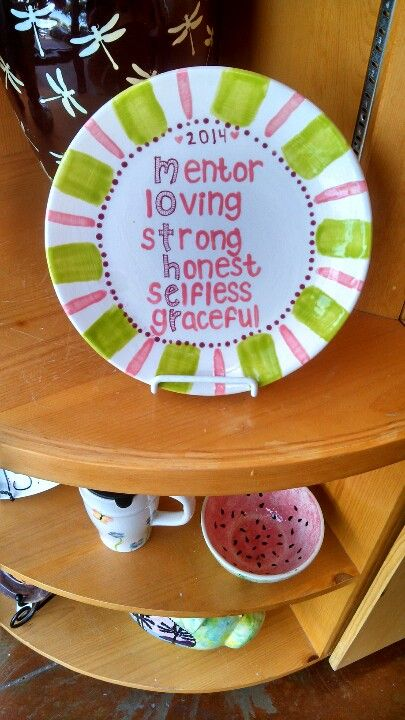 Mothers day anagram plate & 791 best Dinner Plate Decorations! images on Pinterest | Pottery ...