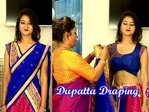 Learn How to Wear Lehenga with Different Style of Dupatta Draping - YouTube