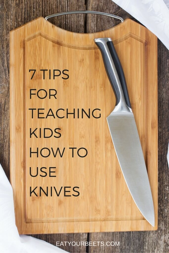 Teach your kids these important life hacks! 7 tips for teaching kids how to use a knife. Great idea if you're looking for kids cooking ideas!