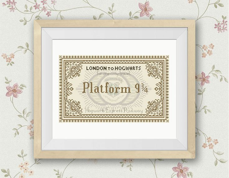 BOGO FREE! Hogwarts Express Railway Ticket Cross Stitch Pattern Harry Potter Counted Cross Stitch Movie Chidren PDF Instant Download #016-3 by StitchLine on Etsy