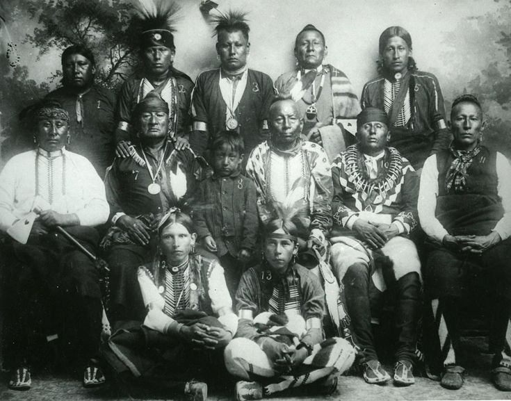 A group of men of the Osage Nation, Missouri. 1887. No additional information re: this photo.