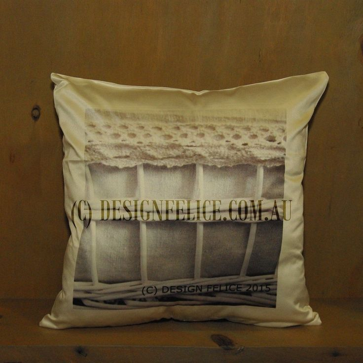 DESIGN FELICE's Photo Cushions are original designs and photography by DESIGN FELICE in Country NSW.  These cushions are printed in Rural Australia on glossy 100% polyester fabric.  (Care Instructions for Cover – Gentle Machine Wash.) The 'Basket 1758' Photo Cushion is a square 40 cm Cushion (white reverse side) including a Cushion Insert, which the Manufacturer advises is Australian Made, Washable and Non-Allergenic. (C) DESIGN FELICE www.designfelice.com.au
