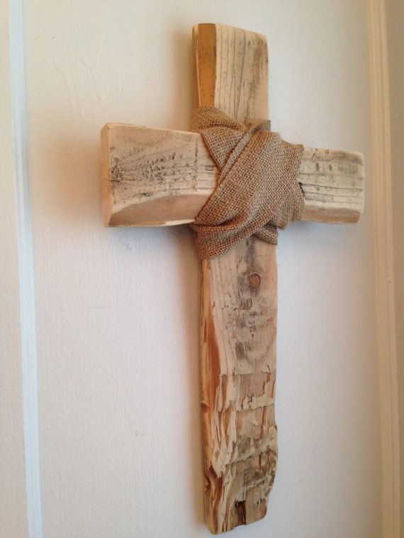 Distressed Rustic Cross Wall Art Hanging Wrapped by JMPalletDesign, $28.00
