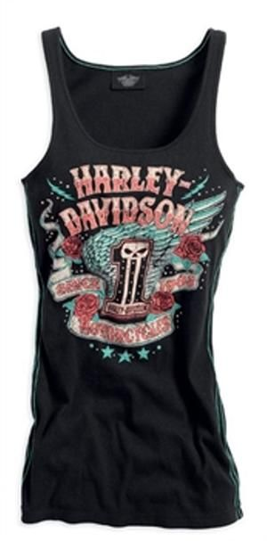 wings tank tops and harley davidson on