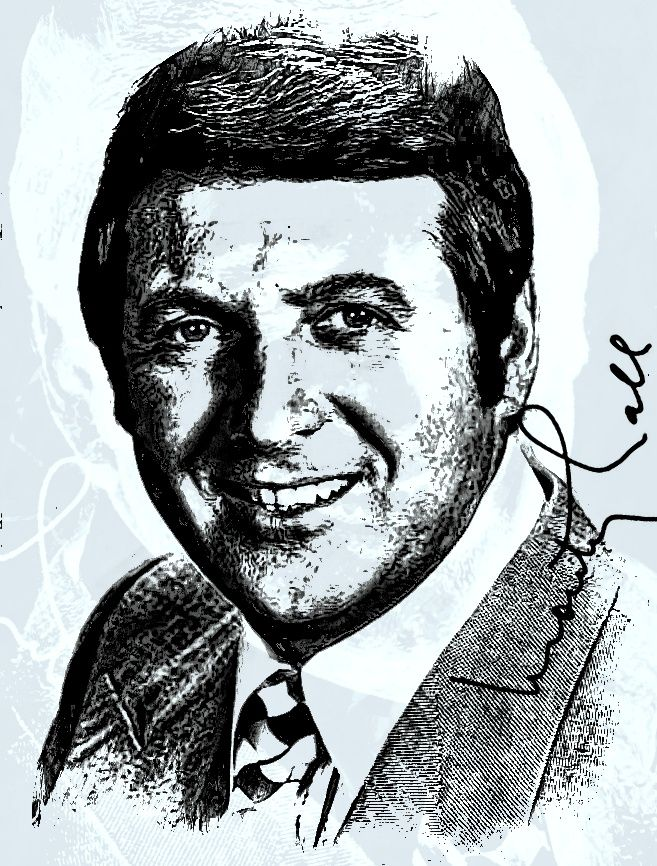 Monte Halparin, OC OM, better known by the stage name Monty Hall, is a Canadian-American emcee, producer, singer and sportscaster, best known as host of the television game show Let's Make a Deal.