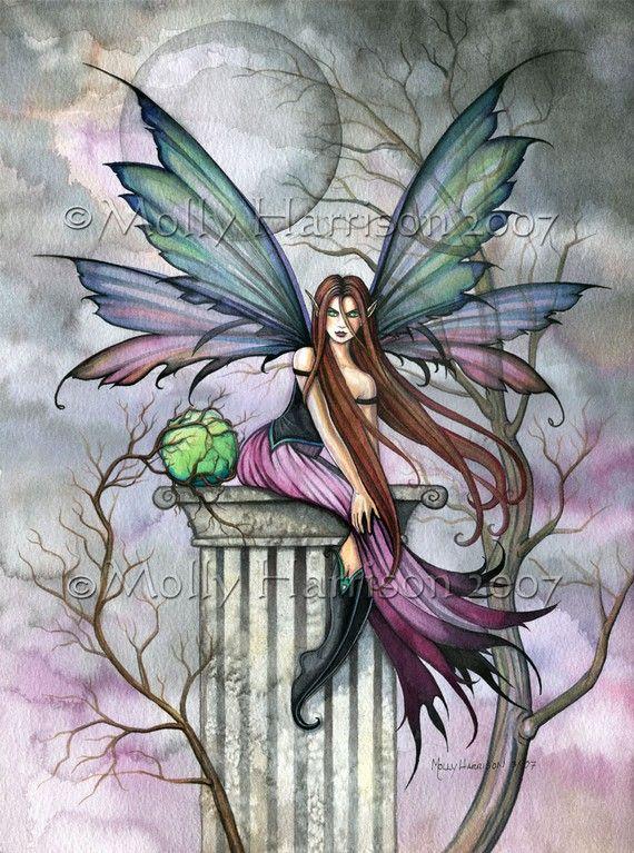 Hada fina Fantasy Art Print de Molly Harrison por MollyHarrisonArt