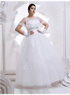 Plus Size Scoop Church Winter Hall Lace-up Elegant & Luxurious Spring Wedding Dress