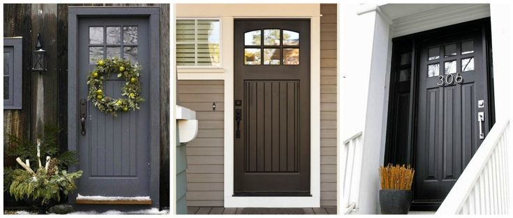 Cozy.Cottage.Cute.: Charcoal Painted Exterior Door Love