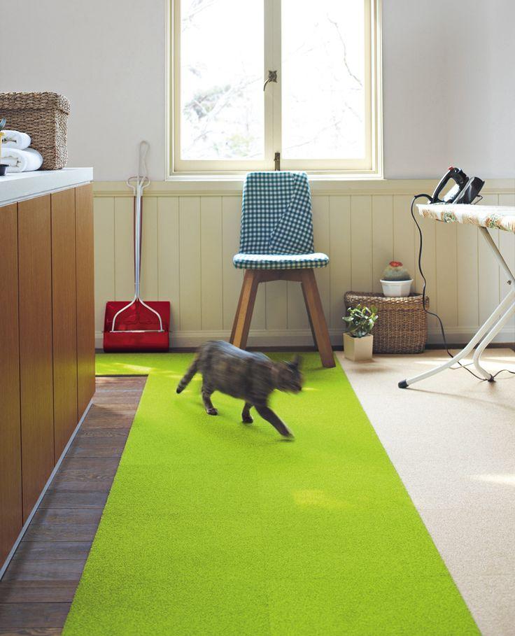 ペットにお勧めのカーペット、じゅうたん | インテリアショップゆうあい ペット対策タイルカーペットのイメージ2