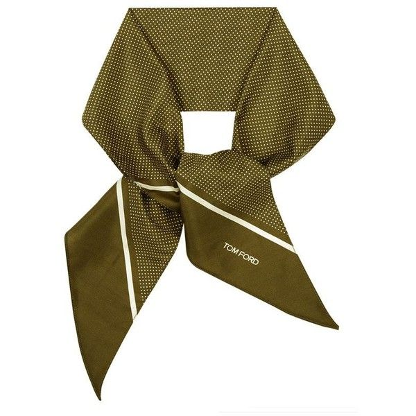 TOM FORD Micro Dot Silk Evening Scarf ($485) ❤ liked on Polyvore featuring men's fashion, men's accessories, men's scarves and mens silk scarves