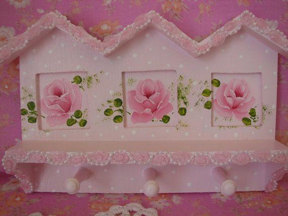 Hooks. #pink #shabby #rose
