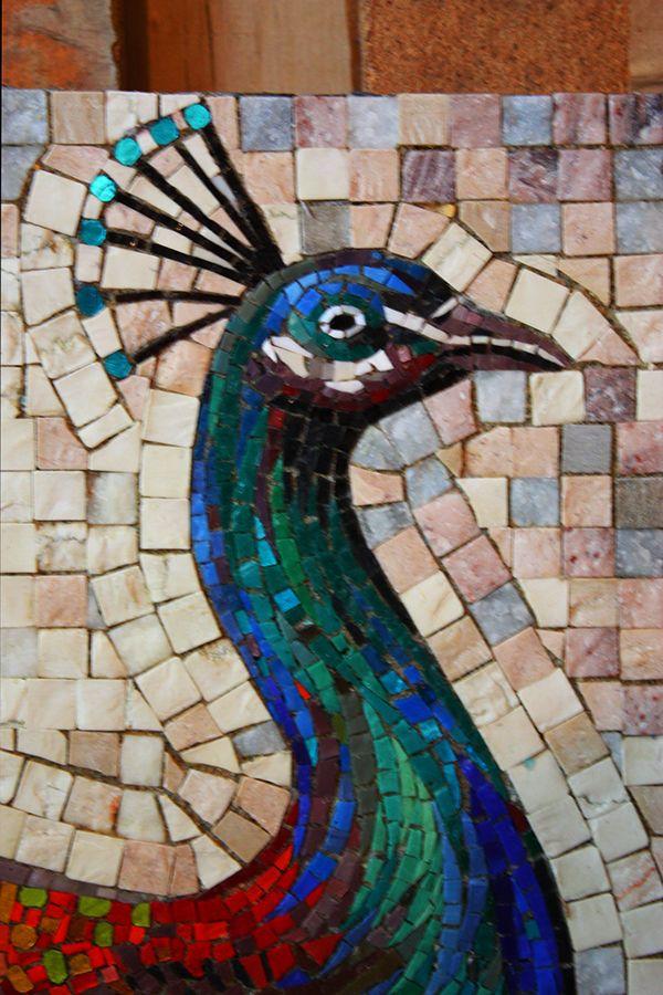 Peacock- mosaic by Iulian Moldovan, via Behance