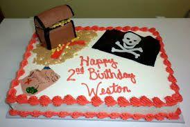 Resultado de imagen de pirate birthday sheet cake homemade