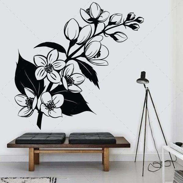 Flor Perfeita, vinil autocolante decorativo de parede